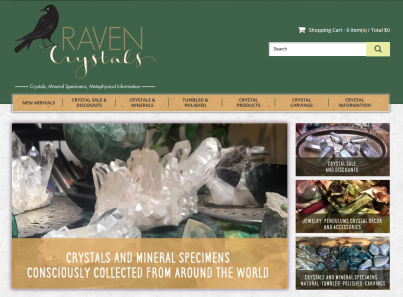 Raven Crystals 3dcart Home Page